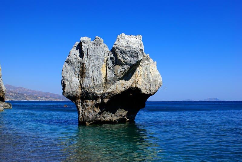 Big rock in the sea royalty free stock photo