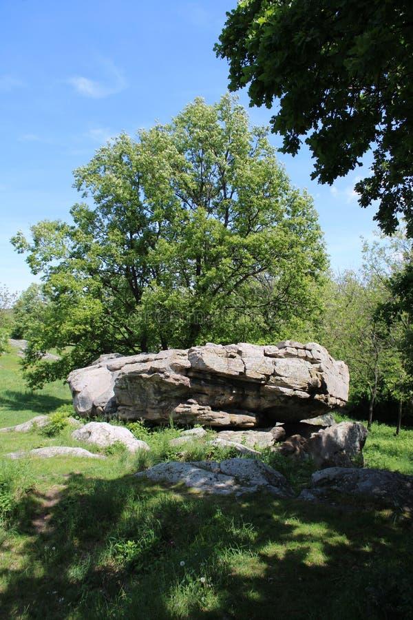 A big rock at Szentbekalla. In Hungary stock photo