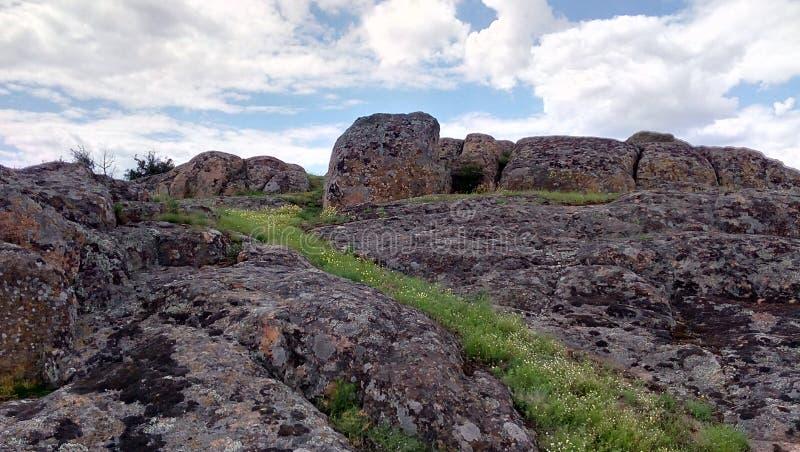Big rocks of great canyon royalty free stock photo