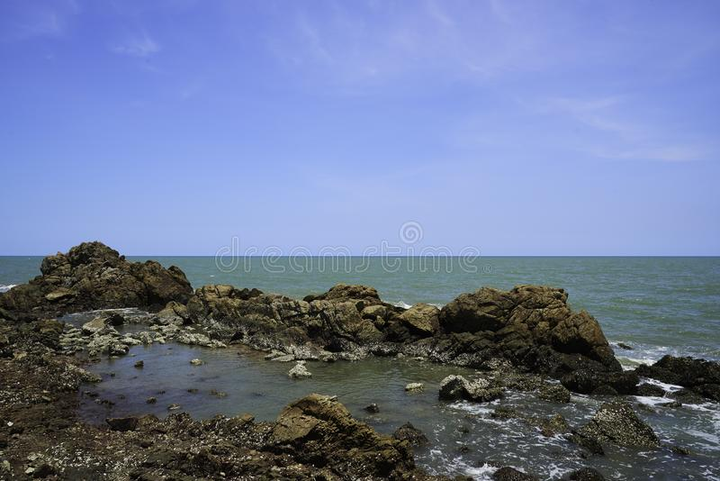 Big rocks in the sea royalty free stock photography