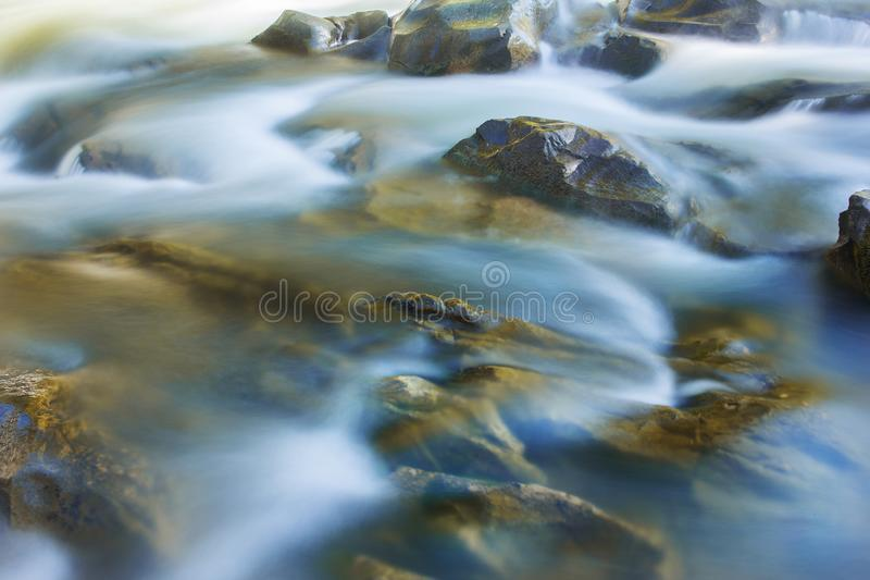 Big rocks in waterfalls of mountains river mountains. Water mountains landscape. Idea for outdoor activities, travel. stock images