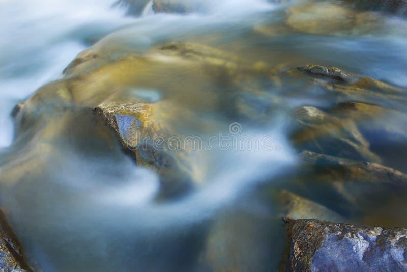 Big rocks in waterfalls of mountains river mountains. Water mountains landscape. Idea for outdoor activities, travel. stock image