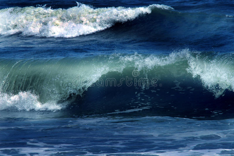 Big rolling waves. Large rolling waves close up of them crashing as they roll royalty free stock photo