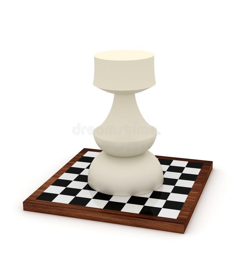Big Rook On Chessboard Stock Photos