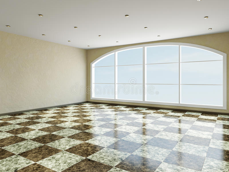 The Big Room With Window Royalty Free Stock Photography