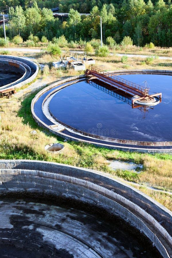 Big round sedimentation drainage stock photography