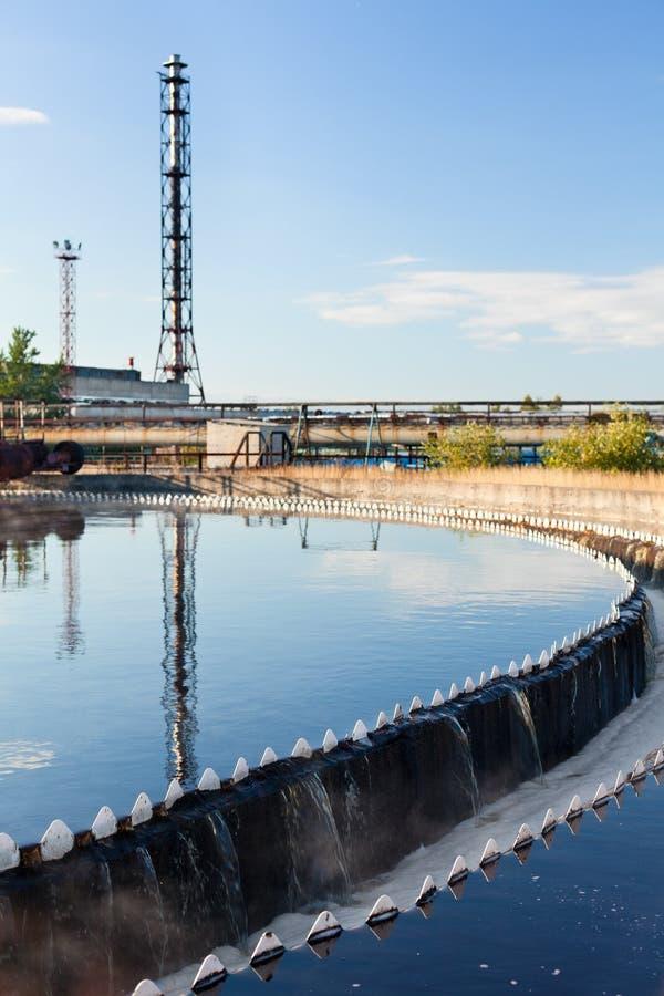 Big round sedimentation drainage stock images