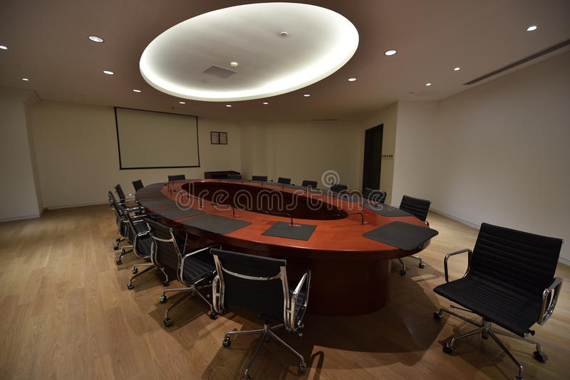 Download Big Round Table Meeting Room Stock Photo   Image: 68255617