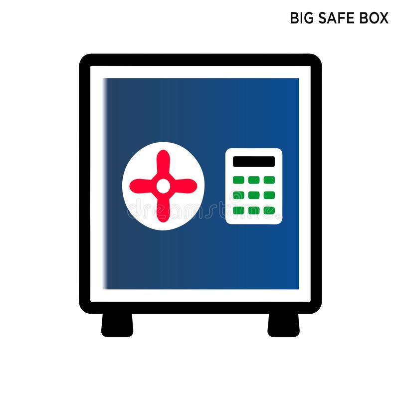 Big safe box icon editable symbol design. With white background royalty free illustration