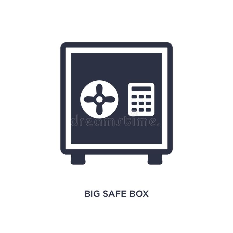 Big safe box icon on white background. Simple element illustration from airport terminal concept. Big safe box icon. Simple element illustration from airport vector illustration
