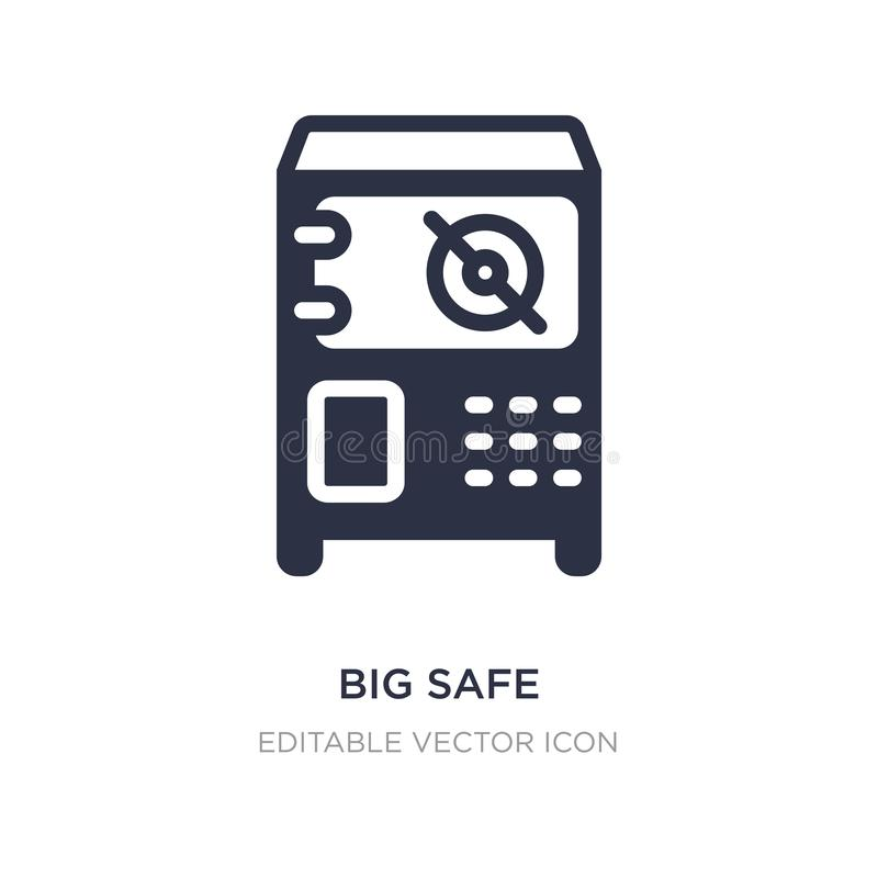 big safe icon on white background. Simple element illustration from Business concept vector illustration