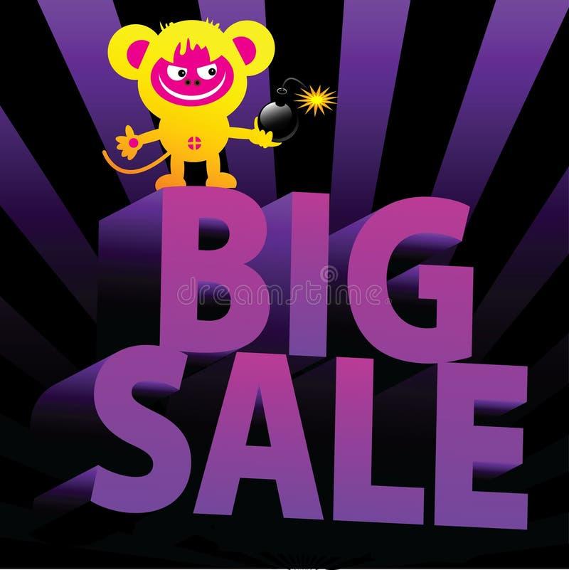 Download Big sale stock vector. Illustration of crazy, graphic - 13652093