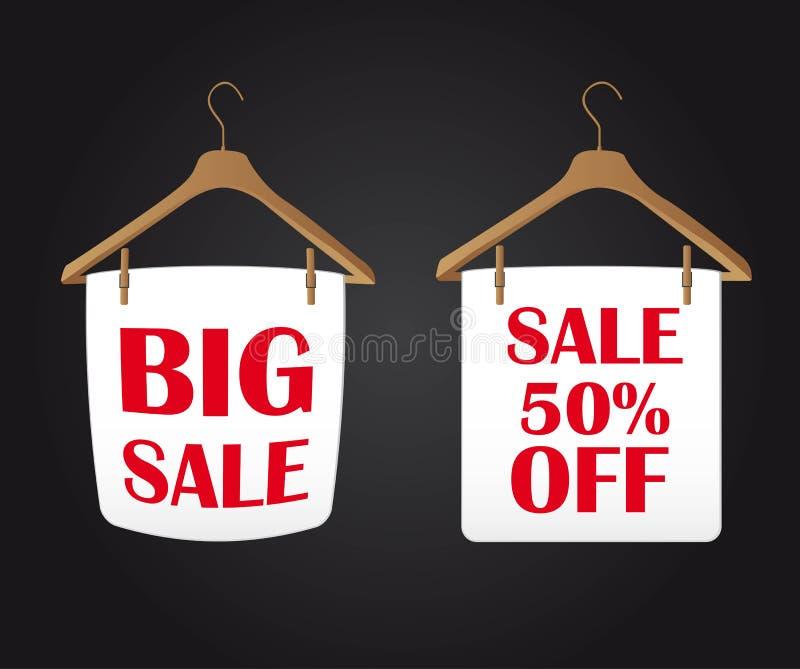 Download Big sale stock vector. Image of hanging, hanger, room - 23706631