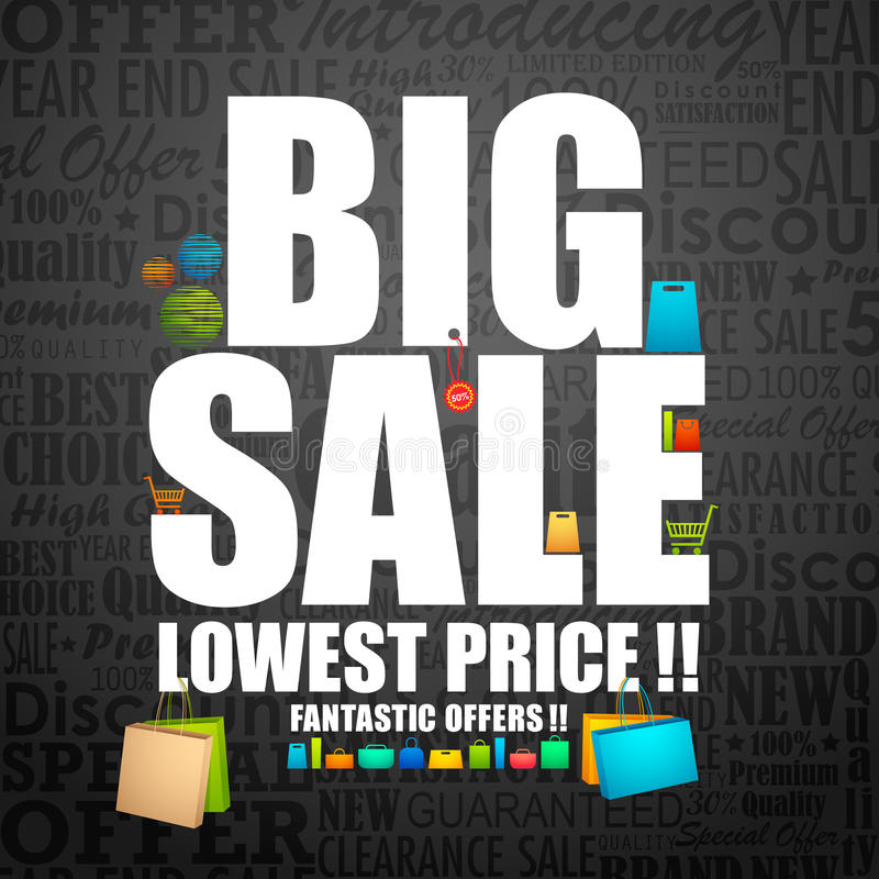 Download Big Sale stock vector. Image of purchase, deal, offer - 25952895