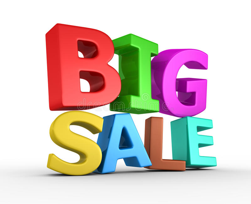 Big Sale - 3d Render Stock Photos