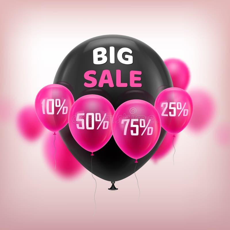 Big sale balloons royalty free illustration