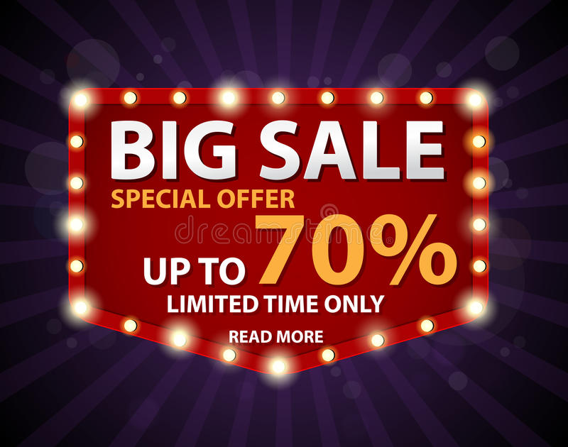 Big Sale Banner and Best Offer design vector illustration