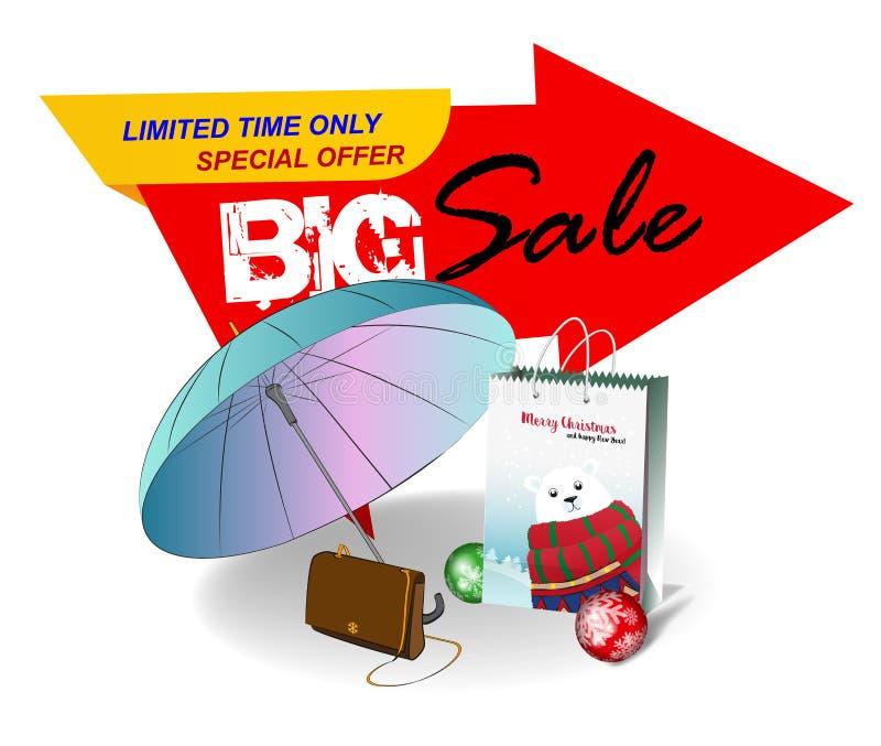 Big sale banner. stock illustration