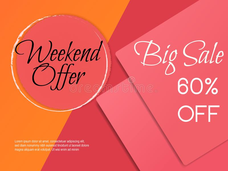 Big Sale Banner Fashion vector illustration