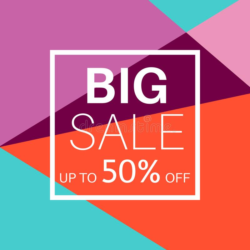 Big Sale Banner For Online Shopping. Stock Vector - Illustration of ...