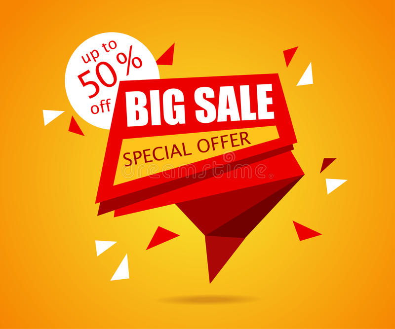 Big Sale Banner Sale Tag Vector Sale Background Illustration For