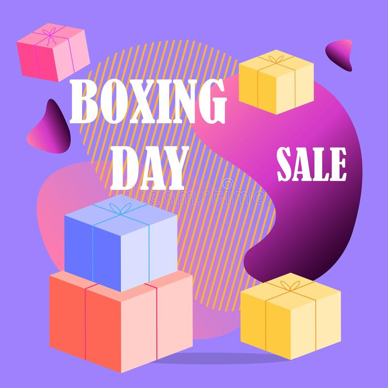 Big sale boxing day, great design for any purposes. Vector template. Winter festive season holiday decoration element. Big sale stock photography