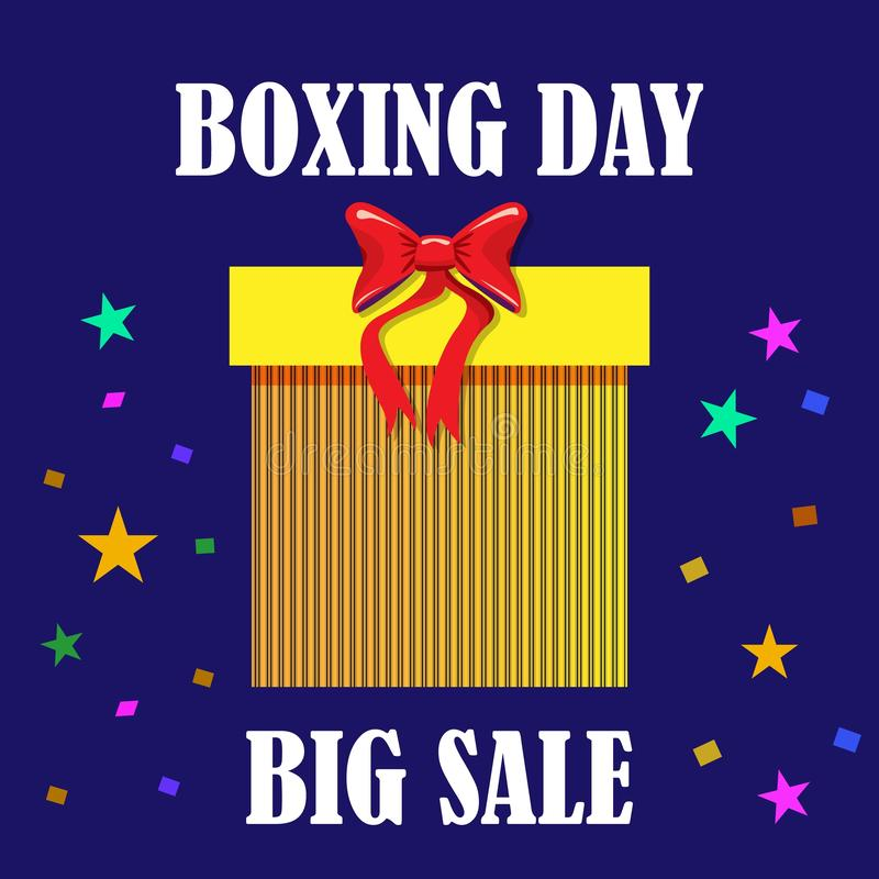 Big sale boxing day, great design for any purposes. Vector template. Winter festive season holiday decoration element. Big sale royalty free stock photo