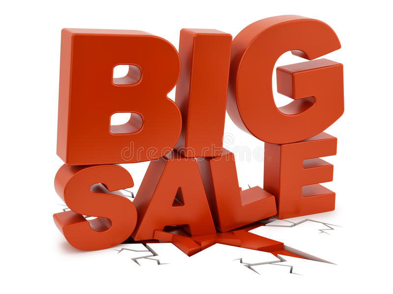 Download Big Sale crushing ground stock illustration. Illustration of label - 34292607