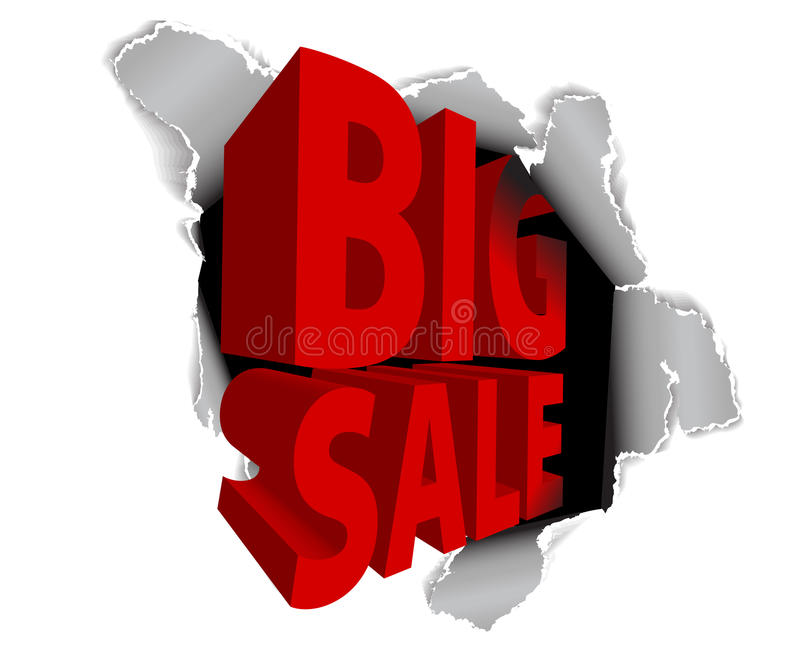 Big sale discount advertisement royalty free illustration