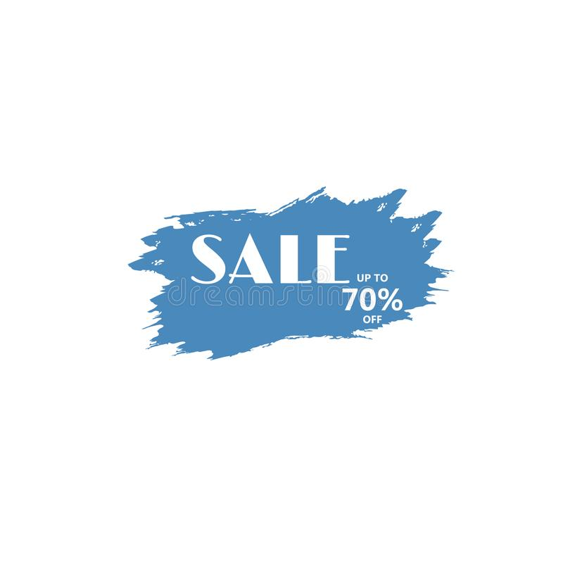 Big sale discount business vector template. Paint brush spots, highlighter lines or felt-tip pen marker horizontal blobs. Marker pen or brushstrokes and dashes vector illustration