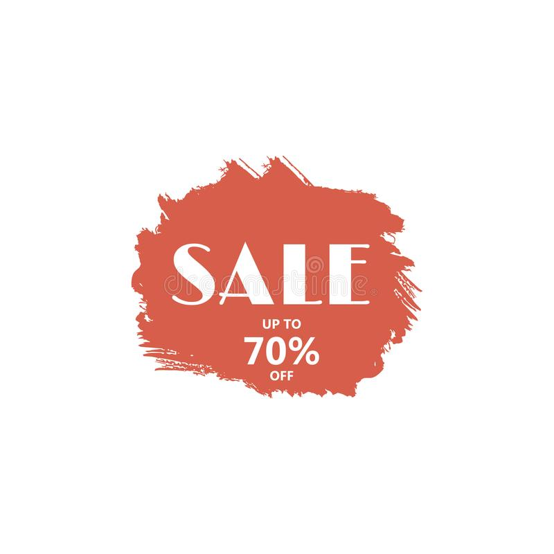 Big sale discount business vector template. Paint brush spots, highlighter lines or felt-tip pen marker horizontal blobs. Marker pen or brushstrokes and dashes stock illustration