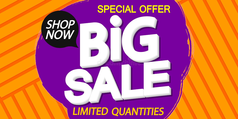 Big Sale, discount poster design template, special offer, vector illustration stock illustration