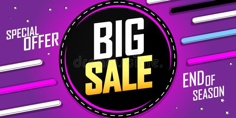 Big Sale, discount poster design template, special offer, vector illustration vector illustration