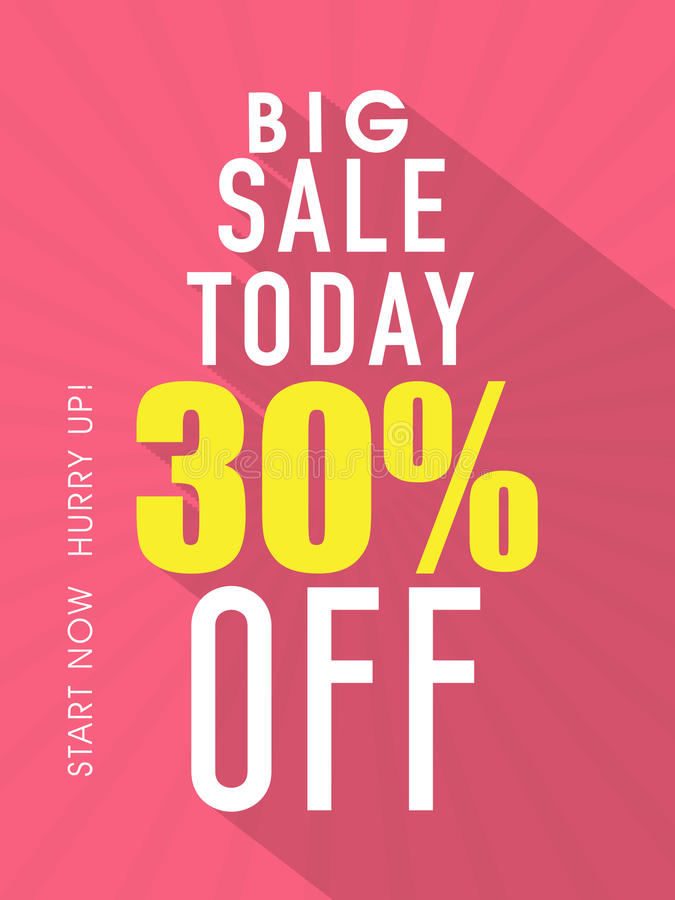 Big sale flyer, template or banner. vector illustration