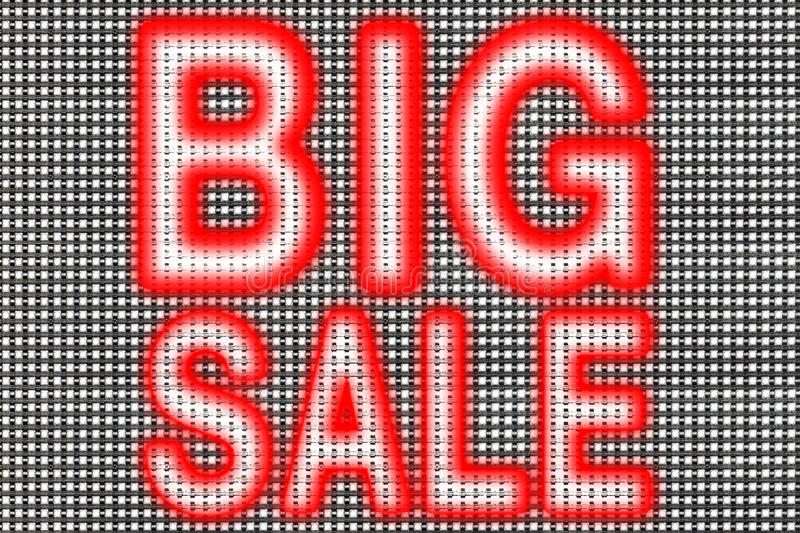 Big sale. LED cell electronic screen panel,big sale word stock image