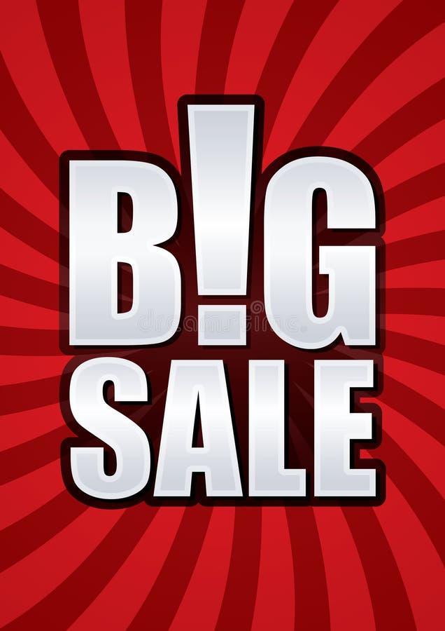 Big sale poster. royalty free illustration