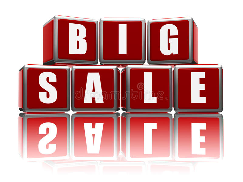 Download Big sale with reflection stock image. Image of business - 24770357