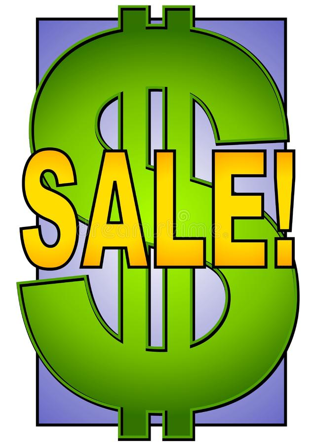Big Sale Sign Dollar Symbol royalty free stock image