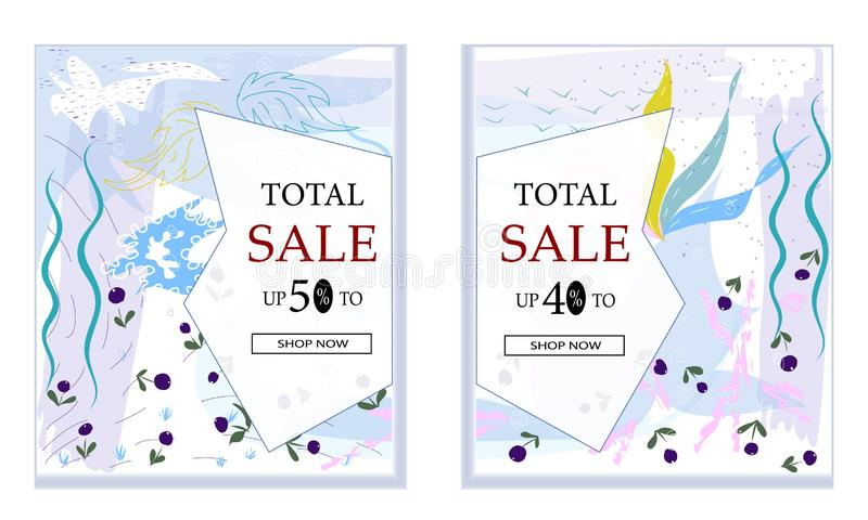 Big Sale with special discount offer, Creative abstract website header or banner set with space to add image. Vector stock illustration