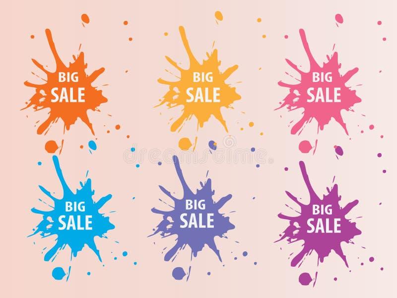 Download Big Sale Splash Backround stock vector. Illustration of artwork - 36123573