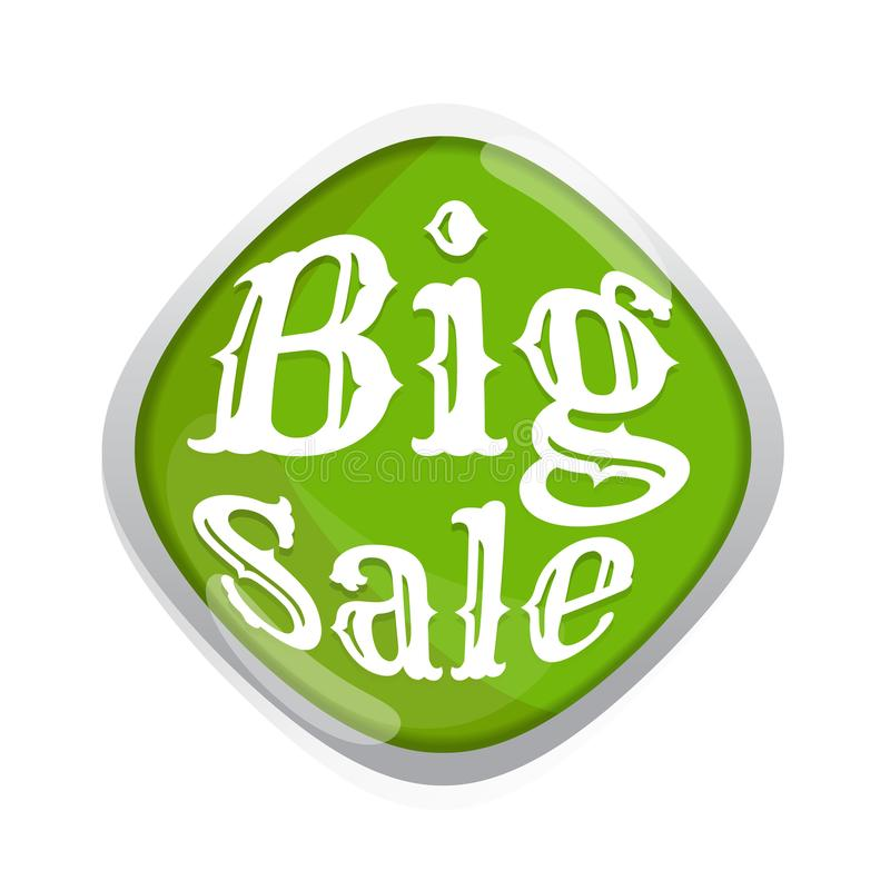 Big sale stickers green vector. banner. Business. marketing. o. N white background vector illustration