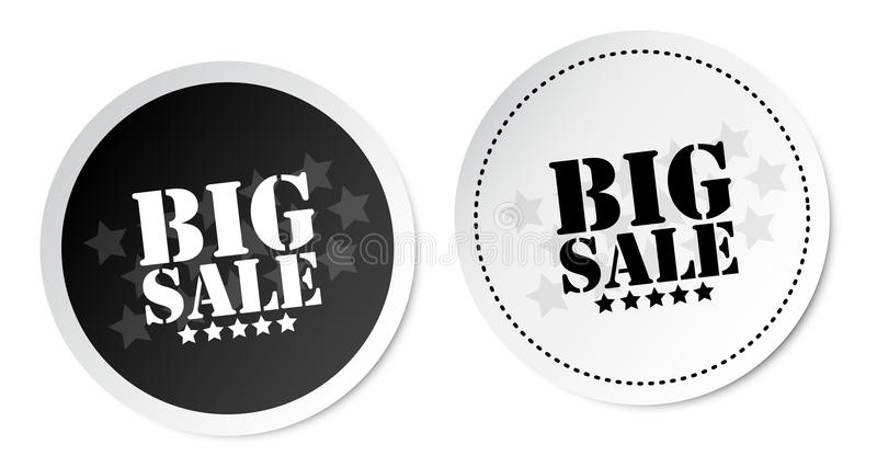 Big sale stickers. With soft shadow vector illustration