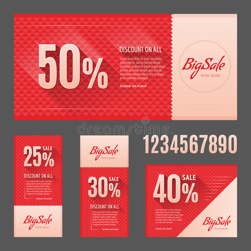 Big sale. Vector flyer, card royalty free stock photography
