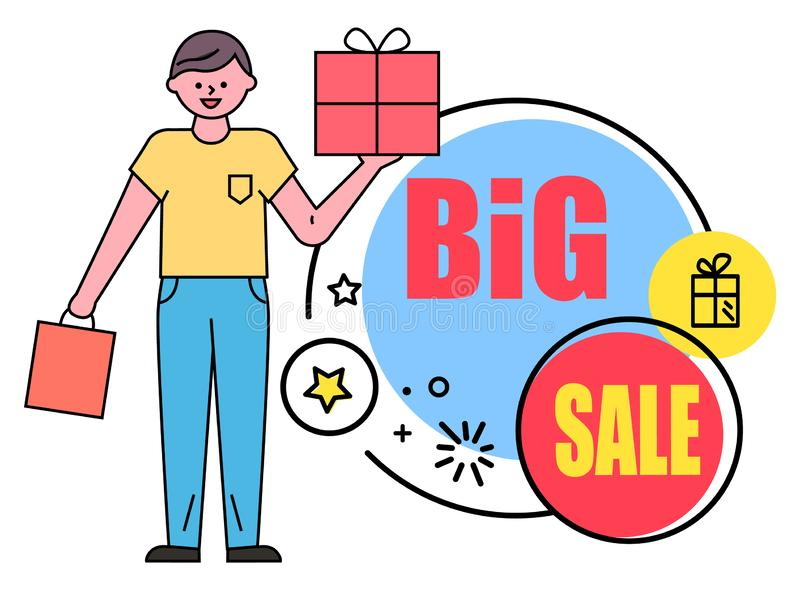 Big Sale Promotional Banner for Holidays Vector vector illustration