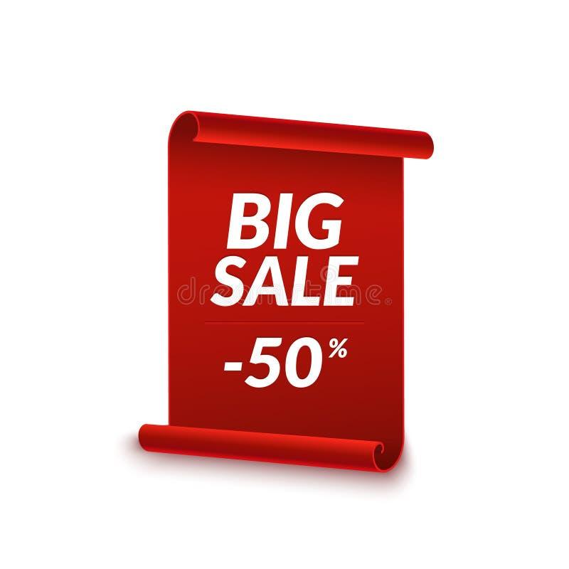 Big Sale Vector Ribbon Design Template Banner Sale Tag Market