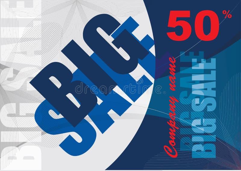 Big sale, vector template background