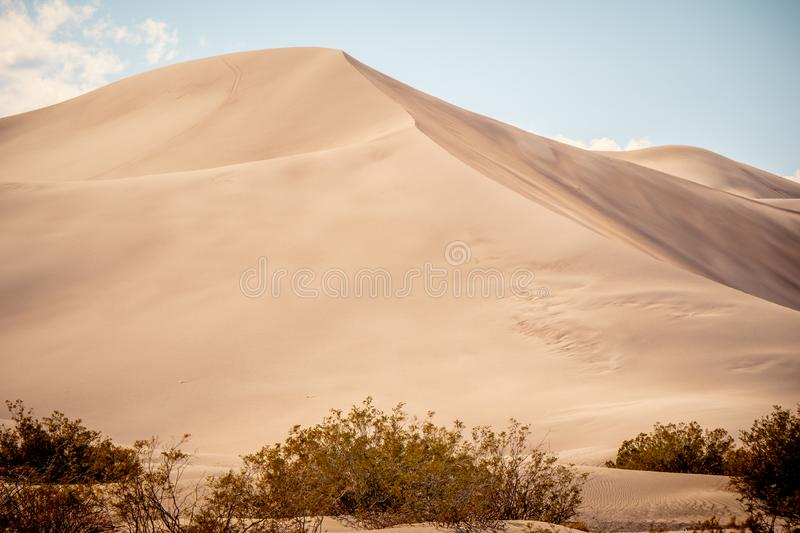 Big Sand Dunes in the desert of Nevada royalty free stock images