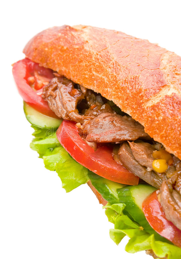 Download Big Sandwich With Vegetable Stock Image - Image: 26481081