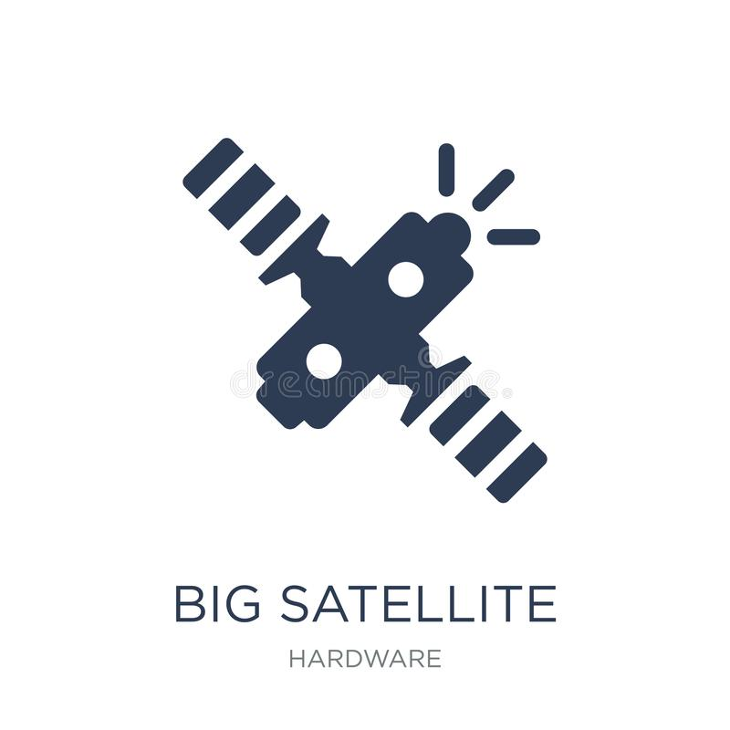 Big Satellite icon. Trendy flat vector Big Satellite icon on white background from hardware collection stock illustration