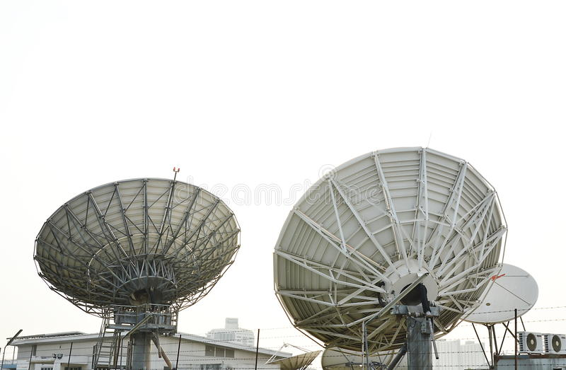 Big satellites dish stock photo